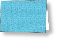 Retro Blue Pattern Greeting Card