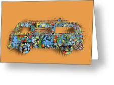Retro Camper Van 2 Greeting Card