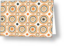Retro Circles Pattern Greeting Card