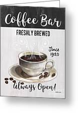 Retro Coffee Shop 2 Greeting Card