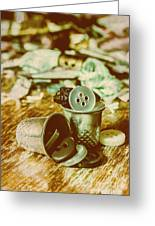 Retro Craft Buckets Greeting Card