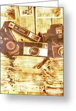 Retro Film Cameras Greeting Card