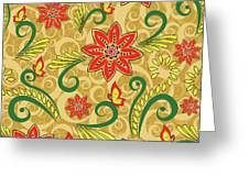 Retro Floral Seamless Pattern Greeting Card