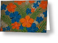 Retro Flowers Greeting Card