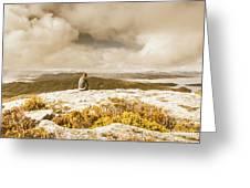 Retro Mountaintop Views Greeting Card