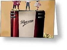 Retro Popcorn Greeting Card