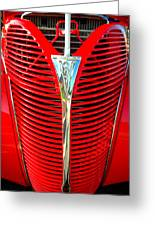 Retro Red Grille Greeting Card