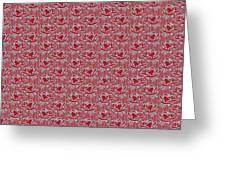 Retro Red Pattern Greeting Card