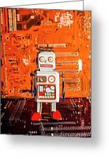 Retro Robotic Nostalgia Greeting Card