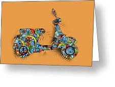 Retro Scooter 2 Greeting Card