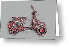Retro Scooter 4 Greeting Card