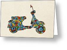 Retro Scooter Greeting Card