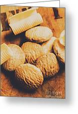 Retro Shortbread Biscuits In Old Kitchen Greeting Card
