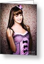 Retro Showgirl Greeting Card