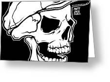 Retro Skull Greeting Card