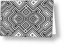 Retro Square Background Greeting Card
