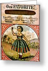 Retro Tobacco Label 1868 C Greeting Card