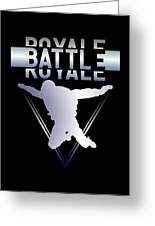 Retro Vintage 90s Chrome Skydiver Battle Royale Gamer T Shirt Greeting Card