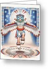 Return Of The Blue Star Kachina Greeting Card