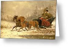 Returning Home In Winter Greeting Card