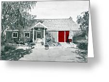 Retzlaff Winery With Red Door No. 2 Greeting Card