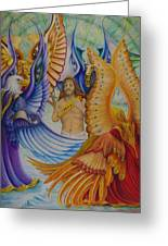 Revelation Five Greeting Card by Rick Ahlvers