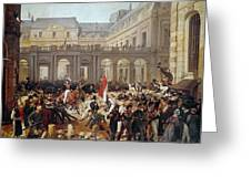 Revolution Of 1830 Departure Of King Louis-philippe For The Paris Townhall Horace Vernet Greeting Card