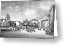 Revolution Of Geneva 1846 Place Bel-air Greeting Card