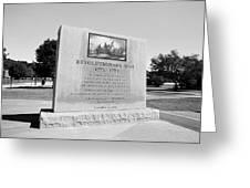 Revolutionary War Memorial 1775 To 1783 Greeting Card