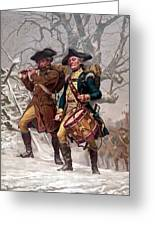 Revolutionary War Soldiers Marching Greeting Card
