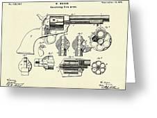 Revolving Fire Arm-1875 Greeting Card