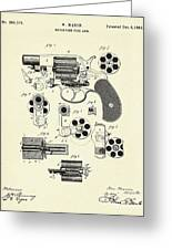 Revolving Fire Arm-1881 Greeting Card
