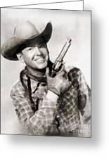 Rex Allen, Vintage Actor Greeting Card