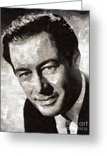 Rex Harrison, Vintage Hollywood Legend Greeting Card