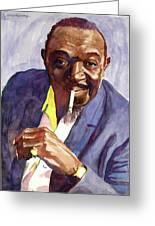 Rex Stewart Jazz Man Greeting Card