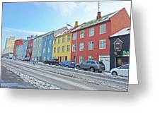 Reykjavik Street Iceland 2 3122018j2325.jpg Greeting Card