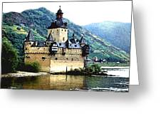 Rhine River Castle Greeting Card