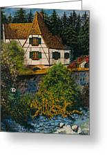 Rhine River Cottage Greeting Card