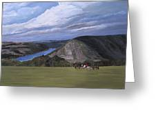 Rhine River Valley Near Loreley Greeting Card