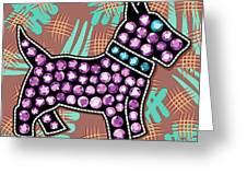 Rhinestone Dog Greeting Card