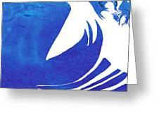 Rhino Animal Decorative Blue Poster 4 - By Diana Van Greeting Card