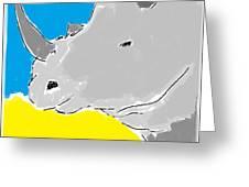Rhino Drink. Greeting Card