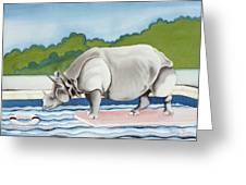 Rhino In La Greeting Card