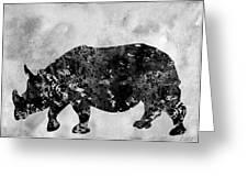 Rhinoceros-black Greeting Card