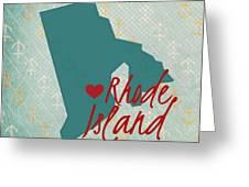 Rhode Island Anchors Greeting Card