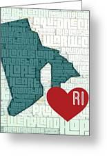 Rhode Island Cities Greeting Card