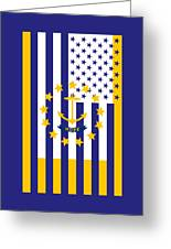 Rhode Island State Flag Graphic Usa Styling Greeting Card