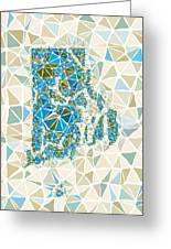 Rhode Island State Map Geometric Abstract Pattern Greeting Card