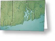 Topographic Map Rhode Island.Rhode Island State Usa 3d Render Topographic Map Border Digital Art