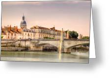 Bridge Over The Rhone River, France Greeting Card
